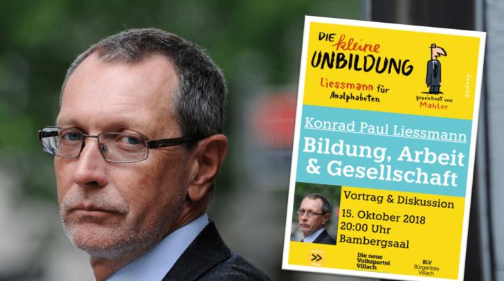 Univ. Prof. Dr. Konrad Paul Liessmann kommt nach Villach