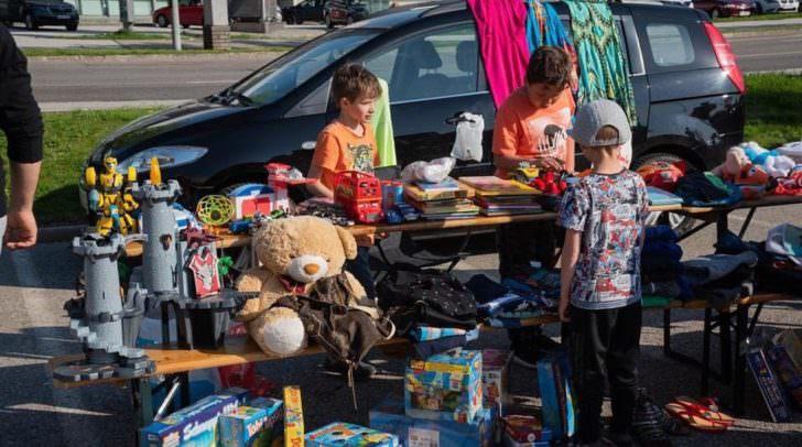 Der größte Outdoor Kinder- und Familienflohmarkt Kärntens.