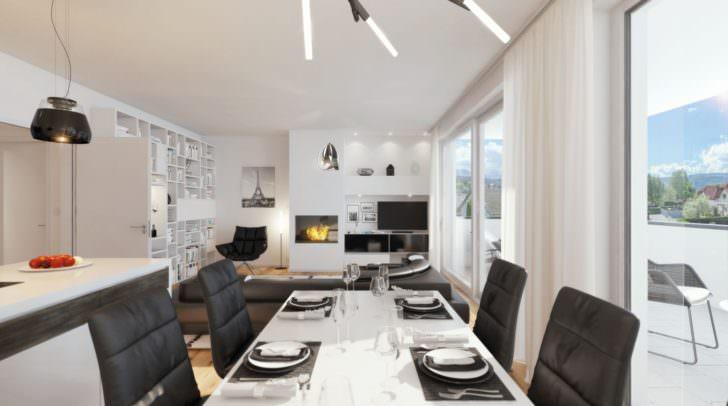Hier an der Gail in Stadtrandlage entstehen zwölf top-moderne Eigentumswohnungen.