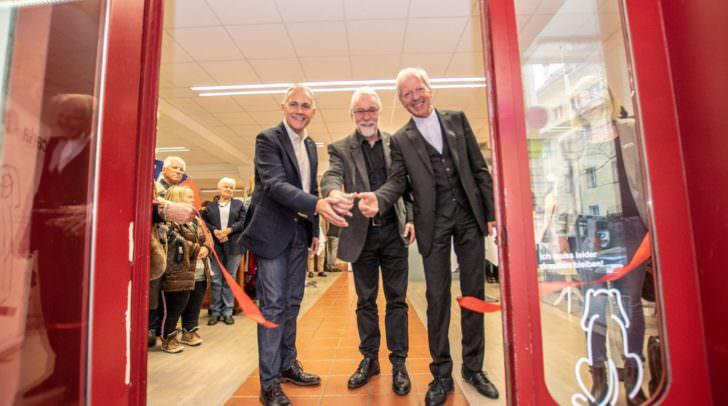 v.l.: SPÖ-Vizebürgermeister Jürgen Pfeiler, Caritasdirektor Josef Marketz und Diözesanadministrator Engelbert Guggenberger eröffneten heute den