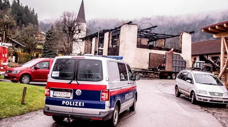 Polizeistreife in Umberg.