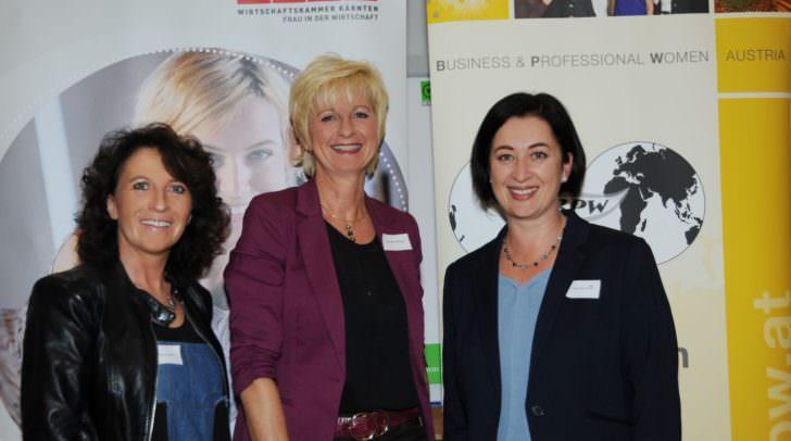 v.l.: Sabine Inschick (Geschäftsführerin FiW Villach), Ing.in Brigitte Zöchling (Vorsitzende FiW Villach), Mag.a Kristina Waltritsch (Präsidentin BPW Club Villach)