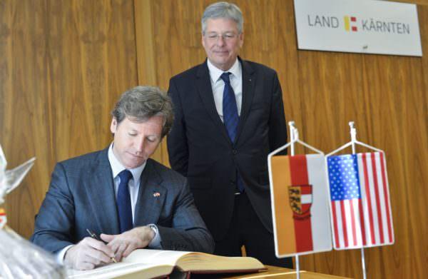Antrittsbesuch des U.S. Botschafters Trevor Traina bei LH Peter Kaiser