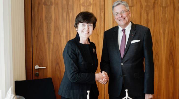 Antrittsbesuch der Botschafterin von Lettland Frau Veronika Erte.