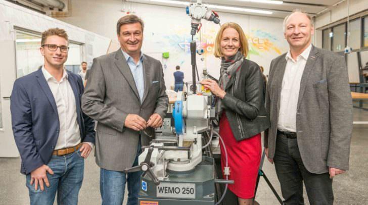 GF Thomas Moser, WK-Präsident Jürgen Mandl, WK-Vizepräsidentin Carmen Goby und WK-Spartenobmann Martin Zandonella