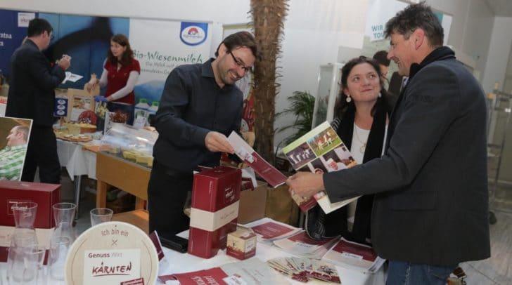 24 regionale Produzenten präsentierten ihre für die Gastronomie und den Handel verfügbaren Spezialitäten.