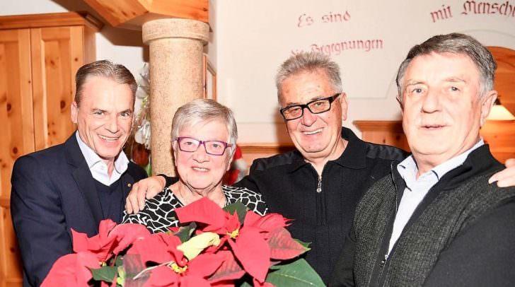 Das 80-Jährige Geburtstagskind mit Veldens Bürgermeister Ferdinand Vouk