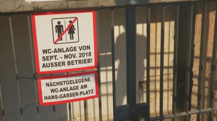 Ab morgen ist die öffentliche WC-Anlage an den Draubermen wieder geöffnet.