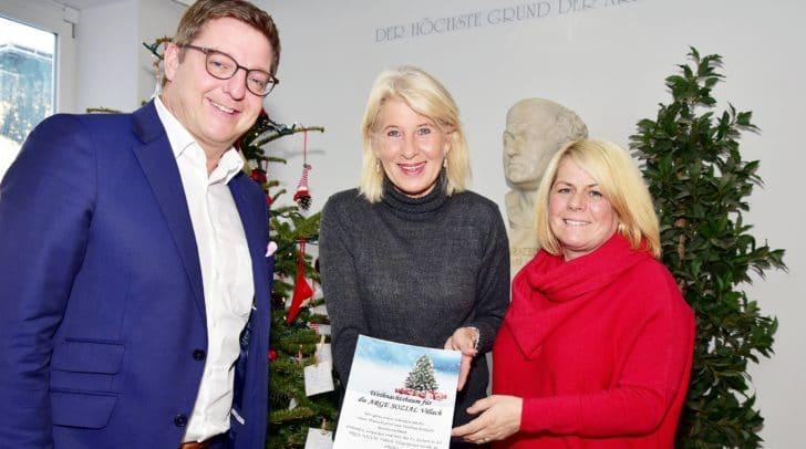Bürgermeister Günther Albel, Sonja Juchart von der Arge Sozial und 2. Vizebürgermeisterin Gerda Sandriesser