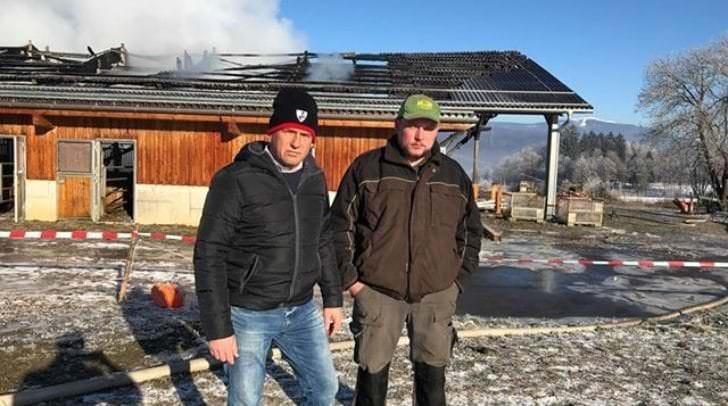 Bürgermeister Christian Poglitsch und Josef Oschounig