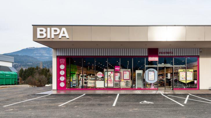 Außenansicht der neuen BIPA Filiale in Feistritz/Drau