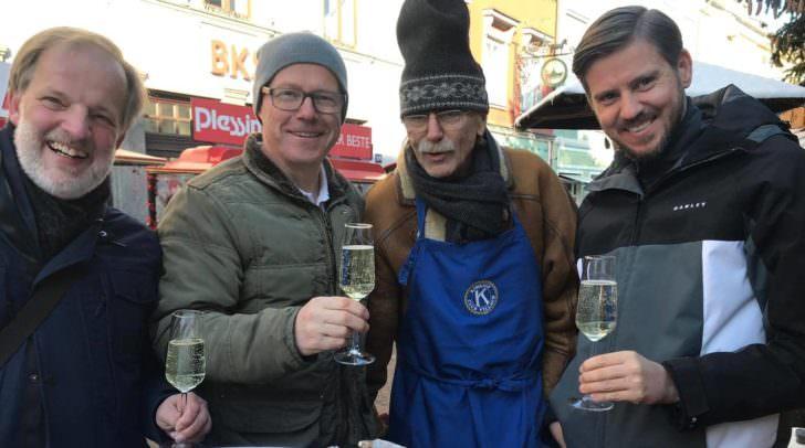 Die Kiwanis luden zu Champagner und Austern in die Villacher Innenstadt.