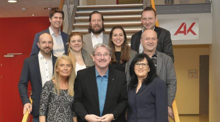 Das Team der ÖABB. Spitzenkandidat Struger: vorne Mitte