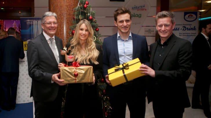 Peter Kaiser, Anna Gasser, Matthias Mayer und Arno Arthofer.