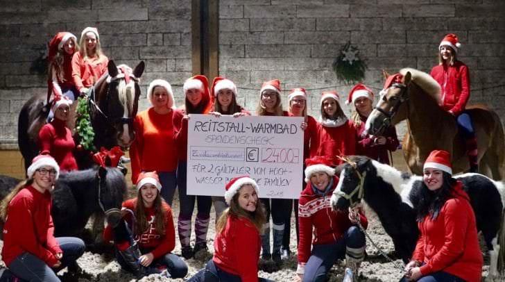 Adventfeier im Reitstall Warmbad stand unter caritativem Stern