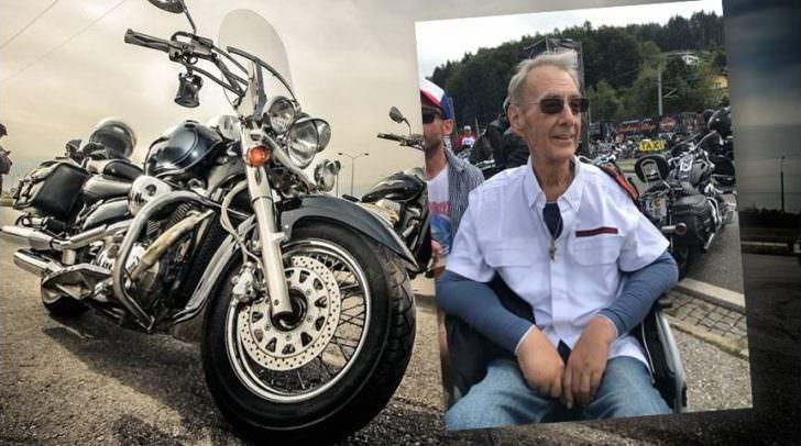 """""""Jetzt bin ich daheim"""", sagte der schwer kranke Anton Umnig beim Hören der ersten Harleys."""