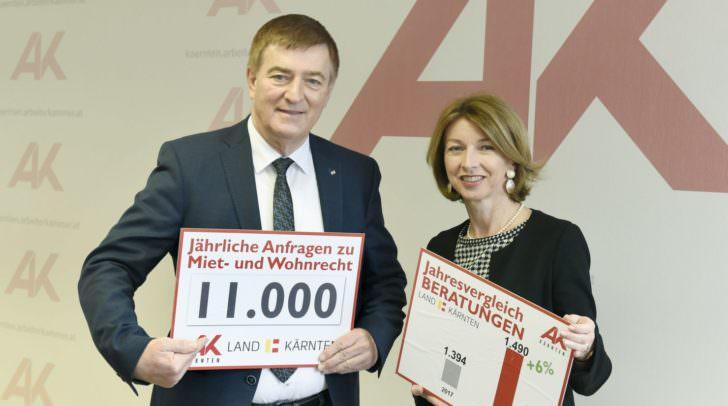 AK-Präsident Günther Goach und LHStv. Dr. Gaby Schaunig.