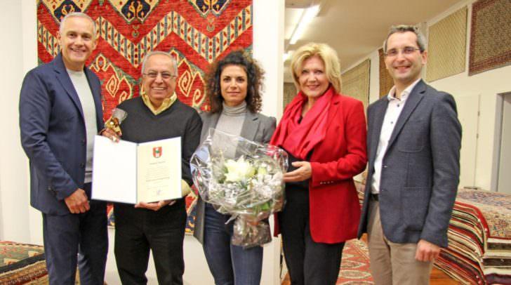 v.l.n.r.: Vizebürgermeister Jürgen Pfeiler, Jasmin Danesh, Bürgermeisterin Maria-Luise Mathiaschitz und Stadtrat Franz Petritz.