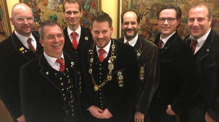 Von links: Horst Freunschlag, Peter Schicho, Josef willroider, kurt Maschke, Ingo Mayer, Martin Zankl, Martin Mayerhofer