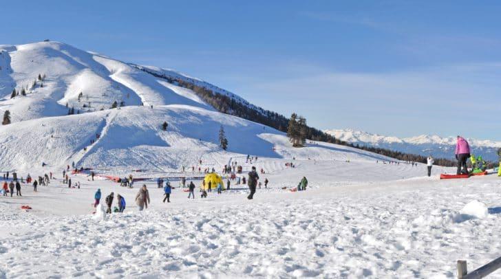 Viele Besucher und Besucherinnen nutzen das gratis Angebot auf der Rosstratte im Naturpark Dobratsch