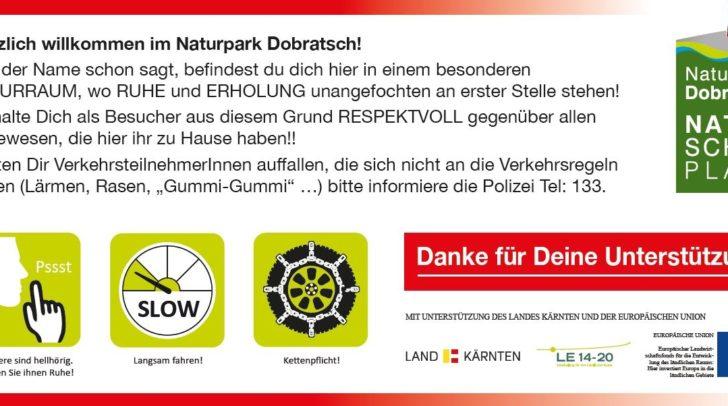 Diesen Infozettel bekommt jeder Fahrer, der über die Villacher Alpenstraße will, in die Hand gedrückt.
