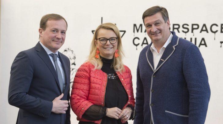 Landesrat Ulrich Zafoschnig, JW-Bundesvorsitzende Christiane Holzinger und WK-Präsident Jürgen Mandl