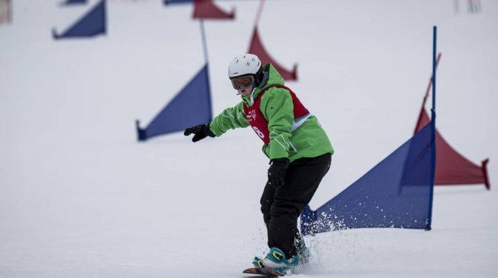 Auch Snowboard gehört zu den Disziplinen. Hier bei den Special Olympics 2017.