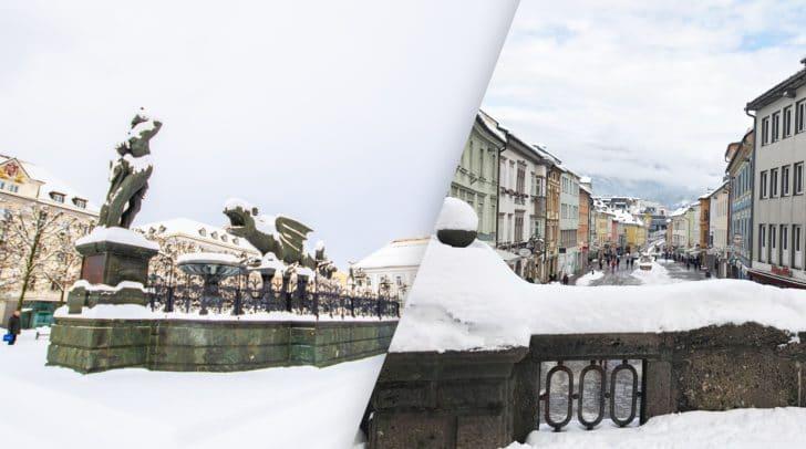 Rund 20 cm Neuschnee fielen vergangene Nacht in der Landeshauptstadt Klagenfurt.