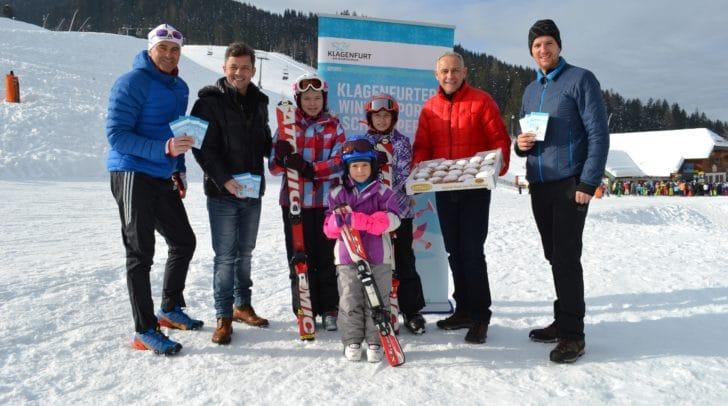 Sportreferent Vizebürgermeister Jürgen Pfeiler und das Team vom Sportamt laden am 16. Februar wieder zum Gratis-Skitag auf der Gerlitzen ein.