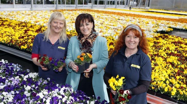 Stadtgartenreferentin Vizebürgermeisterin Petra Oberrauner schnupperte im Stadtgarten bereits Frühlingsluft. Die Gärtnerinnen und Gärtner haben alle Hände voll zu tun.