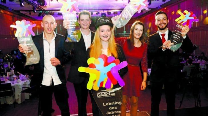 Die Top fünf aus dem Vorjahr mit Gewinnerin Sarah Leitner in der Mitte.