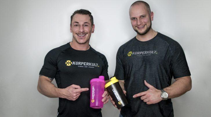 Der neue Körperkult-Storemanager Dario Nonnis und Inhaber Markus Schuster werden euch in Klagenfurt mit Körperkult versorgen.
