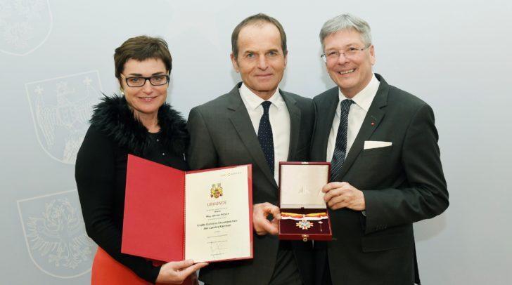 Landeshauptmann Dr. Peter Kaiser, Landeshauptmann-Stv. Dr.in Beate Prettner & Mag. Othmar Resch.
