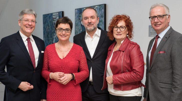 Peter Kaiser, Beate Prettner, Thomas Drozda, Isabella Rauter und Reinhart Rohr (von links nach rechts)