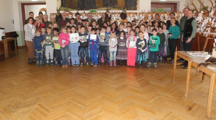 Die Volksschule Bad Bleiberg besuchte die Jägerschaft.