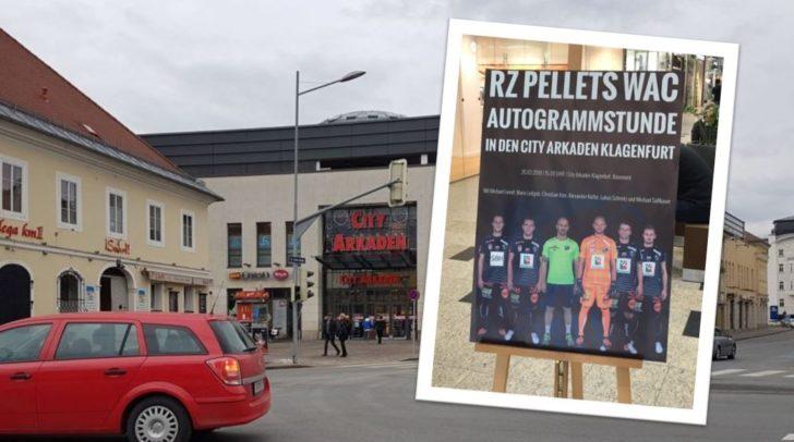 Am 20. Feber kommen die Spieler des RZ Pellets WAC in die CIty Arkaden.