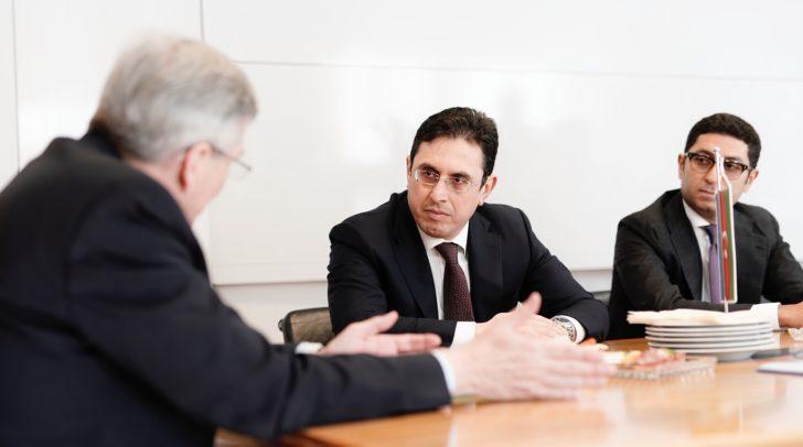 Antrittsbesuch des Botschafters aus Aserbaidschan Galib Israfilov