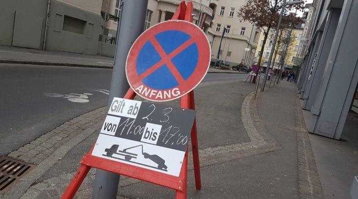 Straßensperren und Parkverbote während des Faschings.