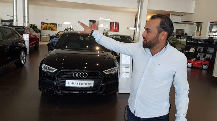 Hier bei Drive Wiegele im Audi-Schauraum werden Matakustix auftreten.