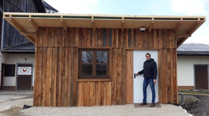 Im Dezember startete Christian Kofler die Planung der Hütte mit dem Selbstbedienungsautomaten. Am 16. März wird sie eröffnet.