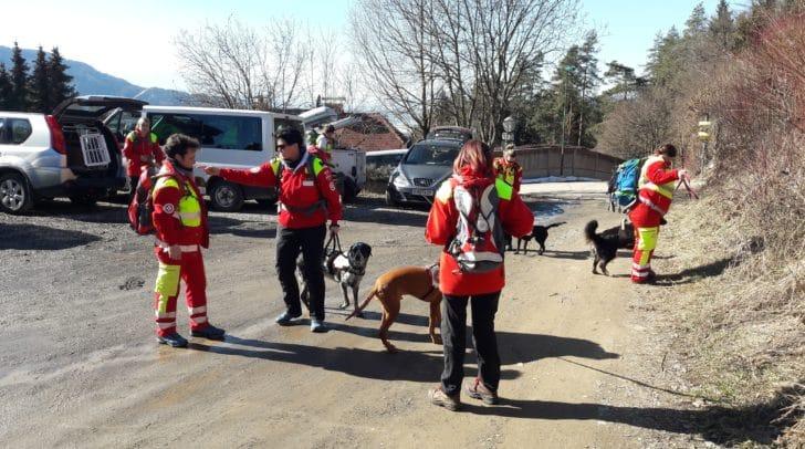 Auch die Rettungshundestaffel Samariterbund Kärnten wurde alarmiert.