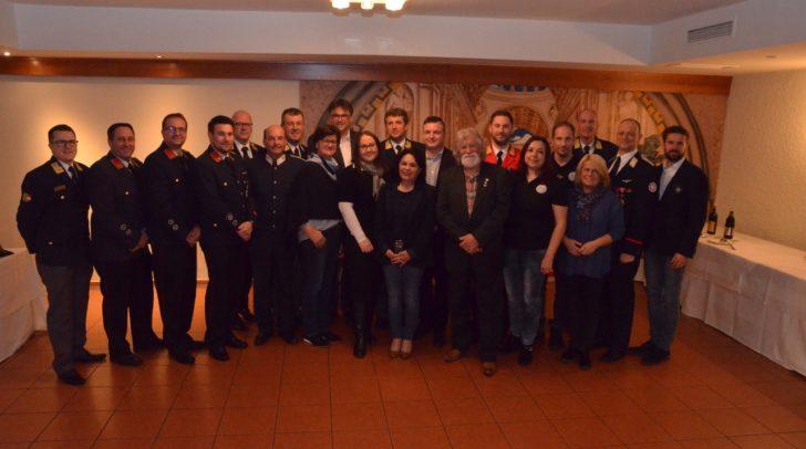 Unter den rund 75 Gästen der Jahreshauptversammlung waren auch zahlreiche Ehrengäste aus der Politik sowie von befreundeten Einsatzorganisationen.