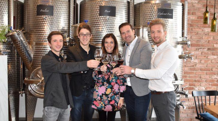 Das Team vom Weinhandel Salatin.