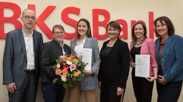 BKS Bank-Vorstandsvorsitzende Herta Stockbauer gratulierte den Absolventinnen des Frauenkarriereprogramms.
