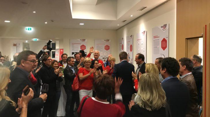 Jubel bei der Fraktion Sozialdemokratischer Gewerkschafter