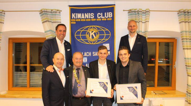 Präsident Christian Pschick, Präsident Elect Gerd Schatzmayr, Lt. Governor Elect Franz Nagelseder, Lt. Governor Horst Korenjak, Fabian Schatzmayr und Daniel Buglnig.