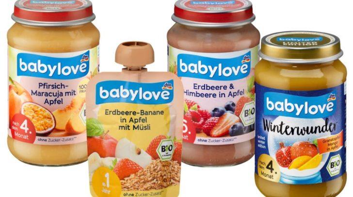 Der Drogeriemarkt dm ruft Babynahrung zurück.