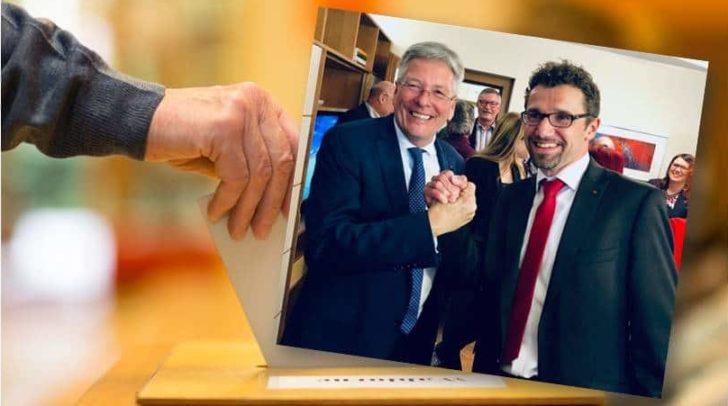 Landeshauptmann Peter Kaiser gratulierte Manuel Müller zu seinem fulminanten Wahlsieg in Paternion.