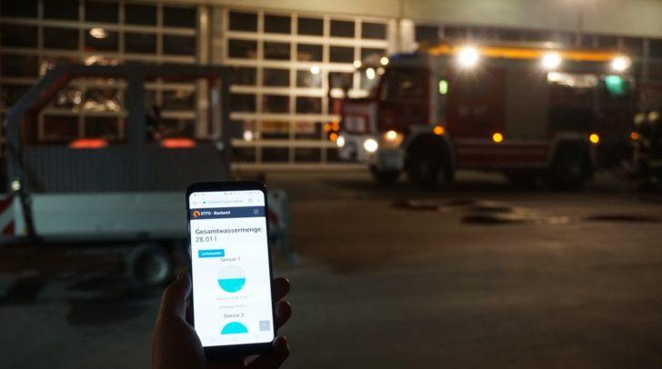 Via Web-App ist es möglich, die vom mobilen Brandsimulator aufgezeichneten Daten, live zu überprüfen.