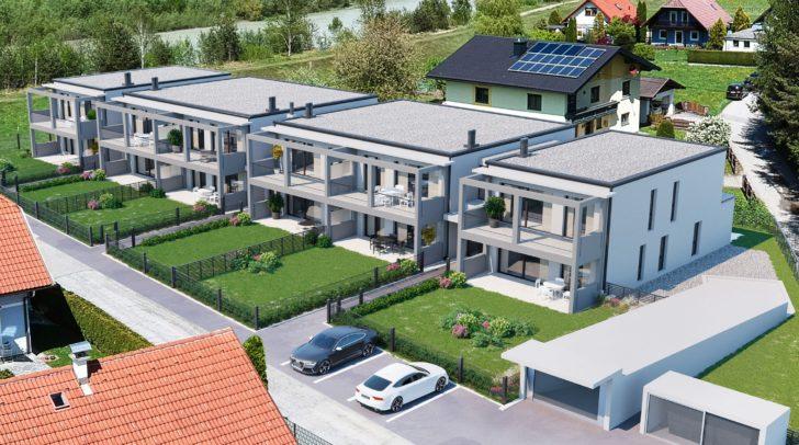 Die Wohnungen liegen im Naherholungsgebiet an der Gail und trotzdem nahe der Stadt.
